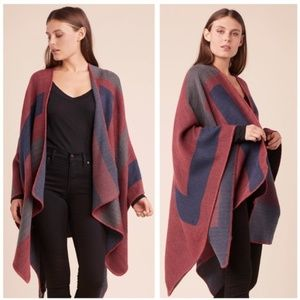 BB Dakota shawl wrap poncho striped